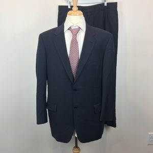 Joseph Abboud Navy Blue Suit 100% wool Super 100's